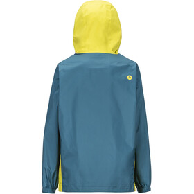 Marmot PreCip Plus Jacket Boys citronelle/moroccan blue